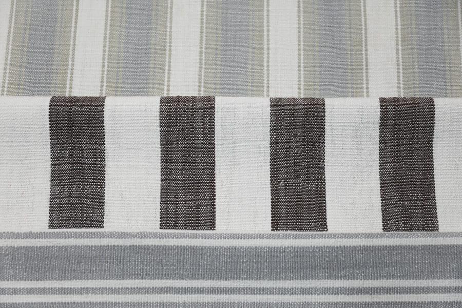 仿棉麻沙发布涤纶家居装饰布条子色织装饰布